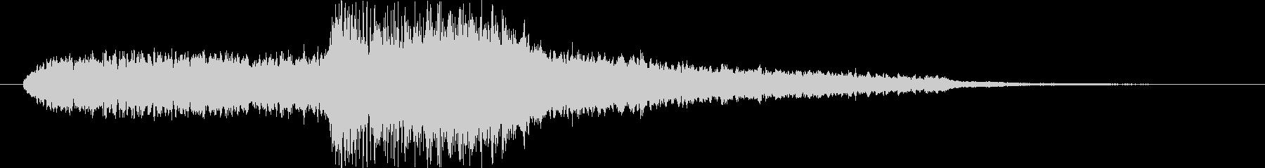 静かな音からハープで終わるエンディング曲の未再生の波形