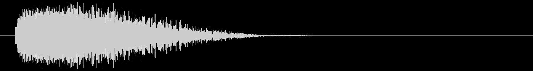 ビーム発射の未再生の波形