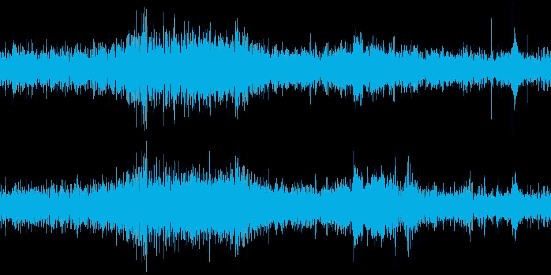 地下鉄通路(環境音)の再生済みの波形