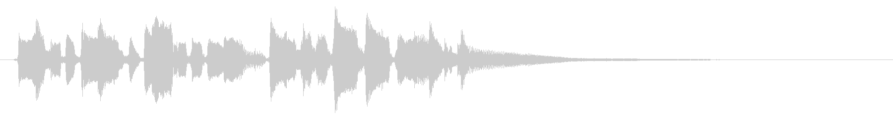 ノスタルジックな口笛とアコギのジングルの未再生の波形