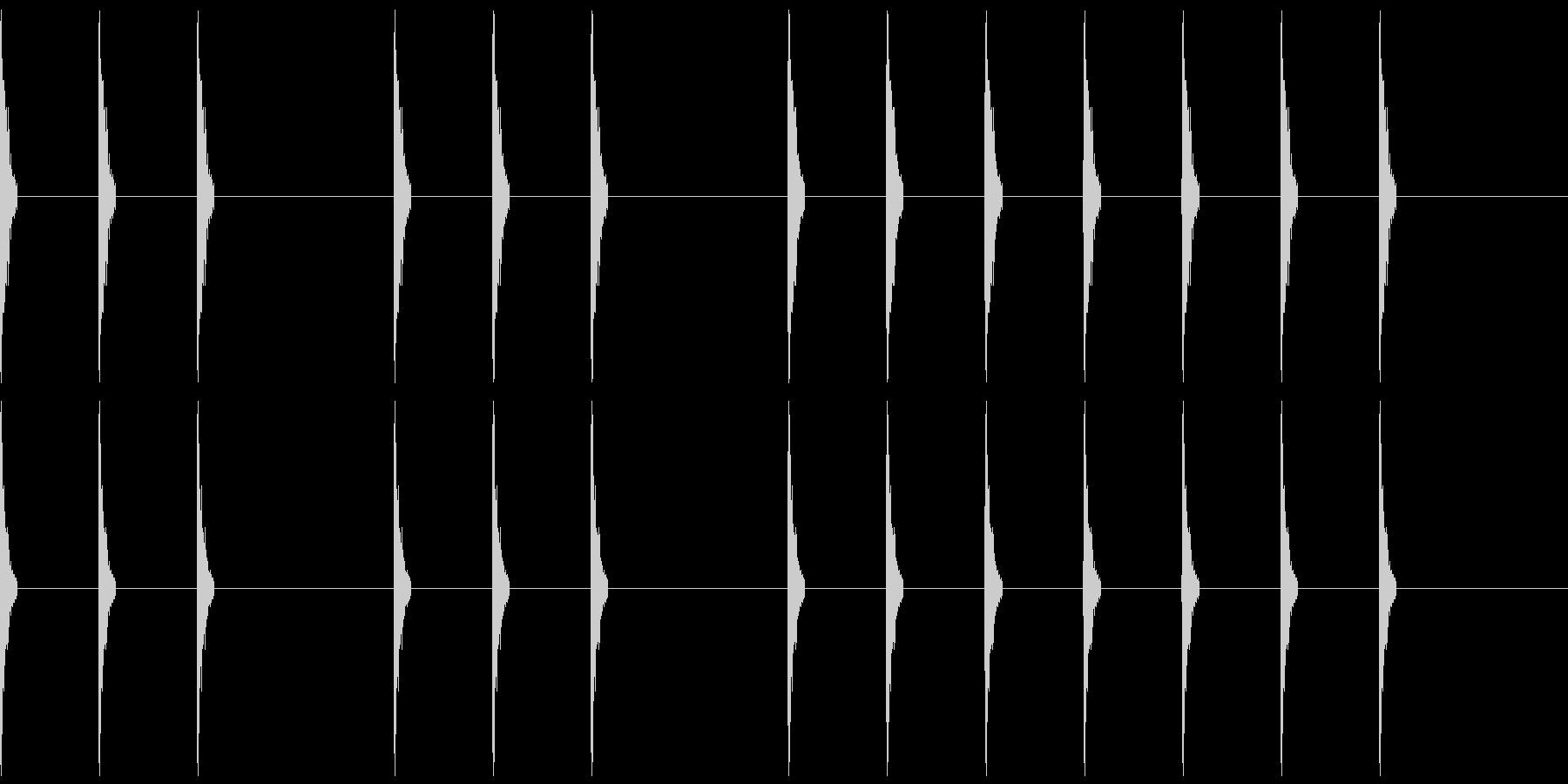 三三七拍子(一人で手拍子)の未再生の波形