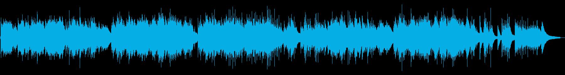 穏やかでウェディング向きのピアノ曲の再生済みの波形
