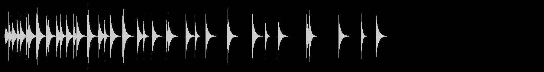 KANTクリックスクロール効果音2810の未再生の波形