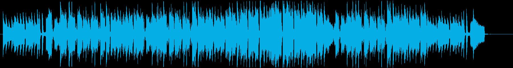 ウクレレ・ギター・フルートなど楽しげな曲の再生済みの波形