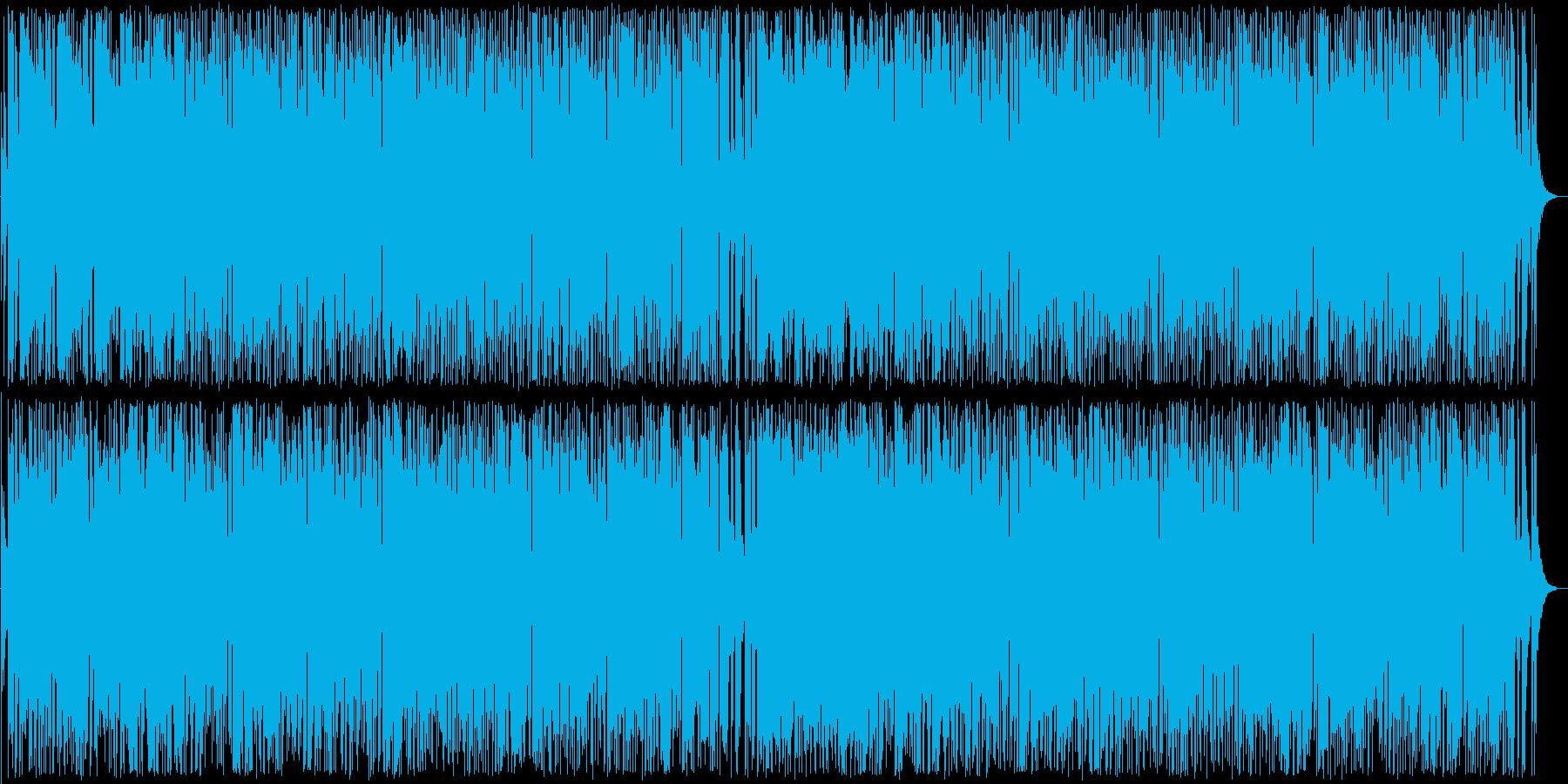 爽やかで楽しいポップス曲の再生済みの波形