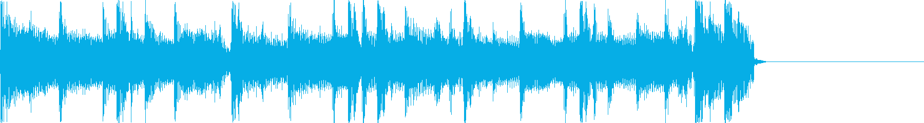 アコギのストロークが印象的なBGMの再生済みの波形