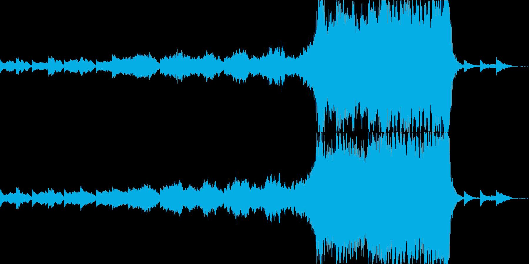 重いエピックオーケストラと螺旋 タムなしの再生済みの波形