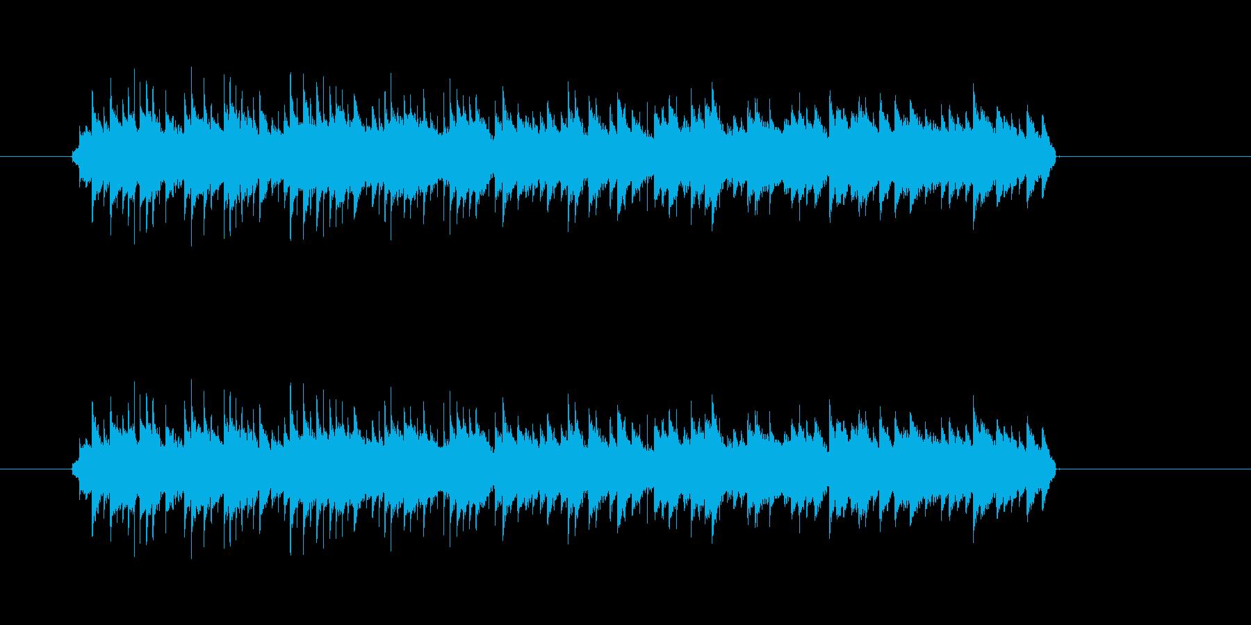 目覚まし時計音の再生済みの波形
