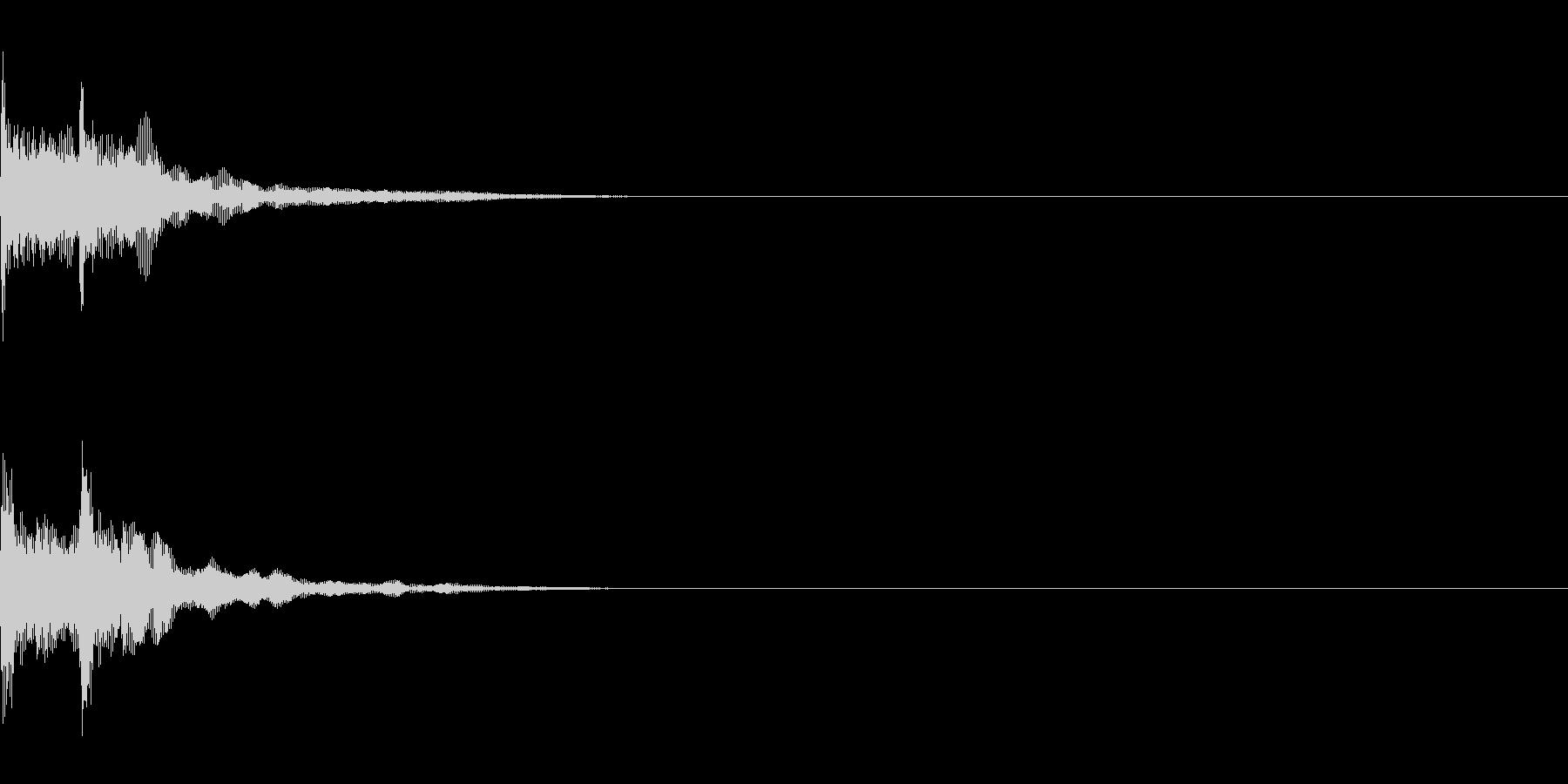 三味線/和風/システム音/B-5の未再生の波形
