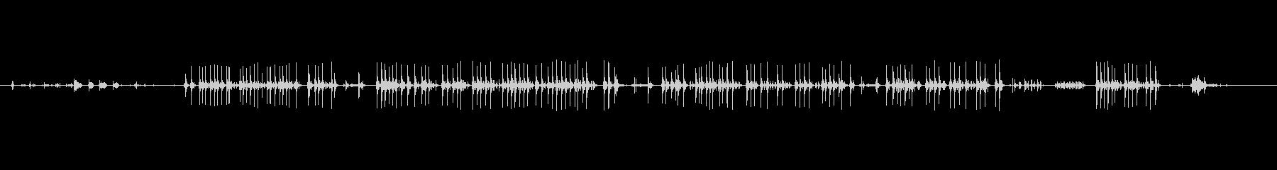 電子タイプライターの未再生の波形