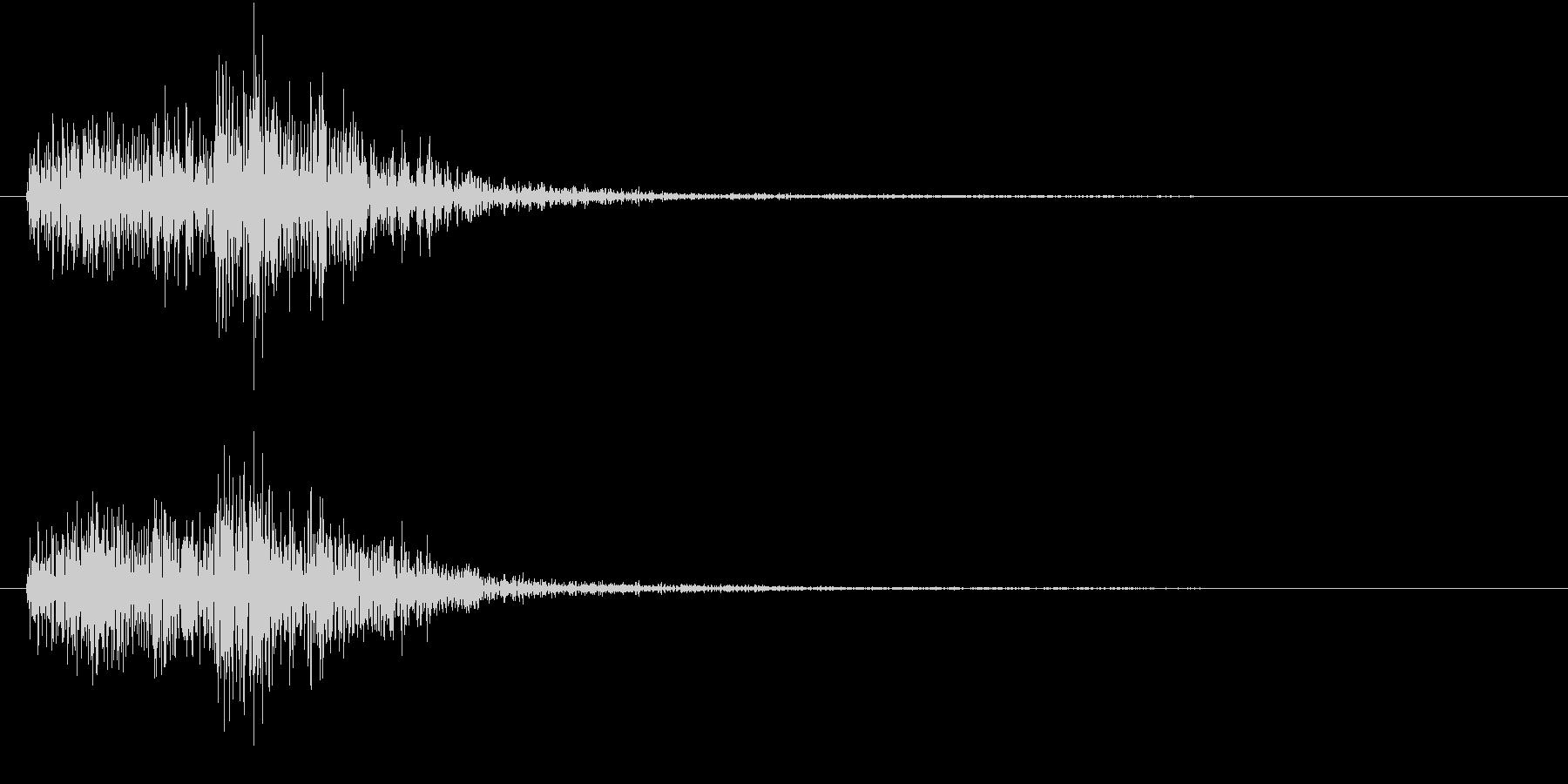 【生録音】陶器の食器と食器がぶつかる音の未再生の波形