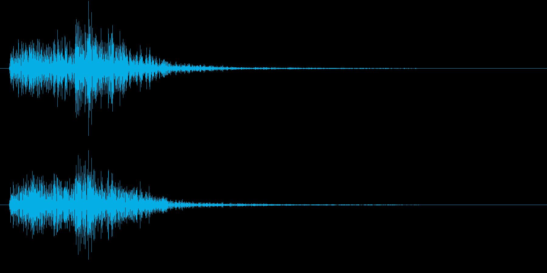【生録音】陶器の食器と食器がぶつかる音の再生済みの波形