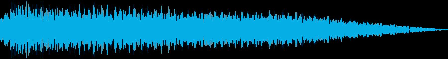ゲーム風ビーム音の再生済みの波形