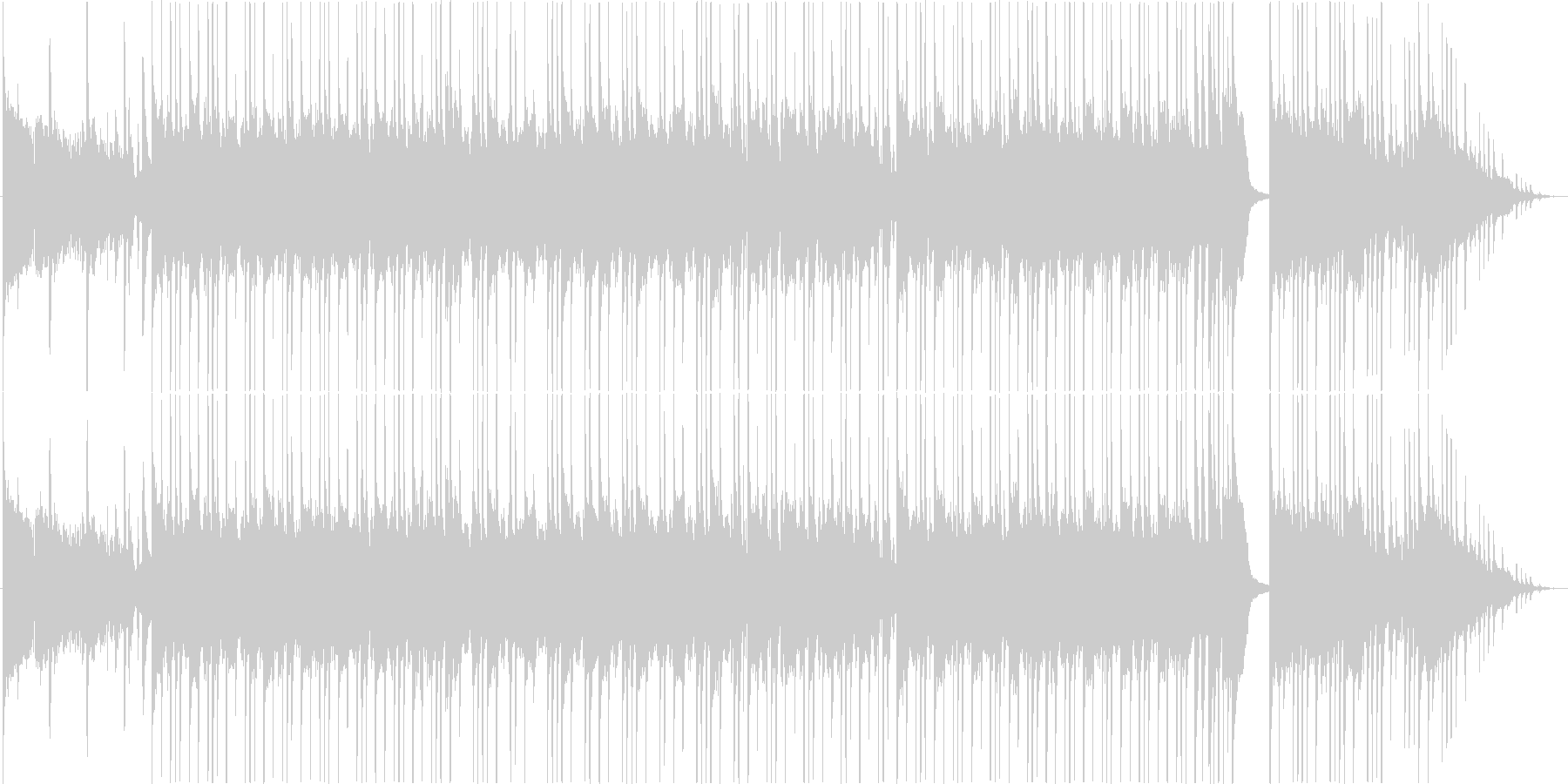 ブルージーなサウンドのギターインストの未再生の波形