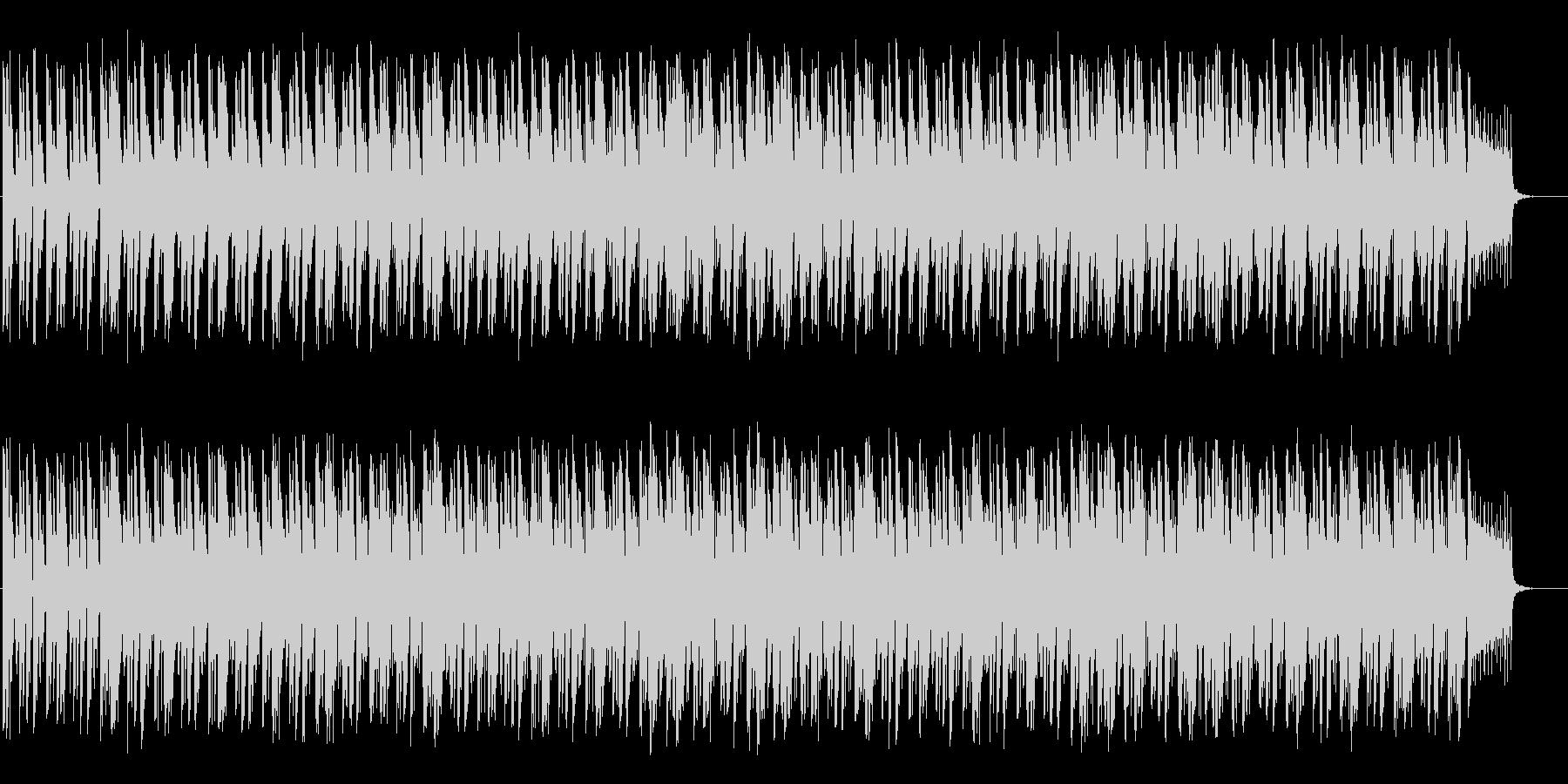 ダイナミックで躍動感のあるBGMの未再生の波形