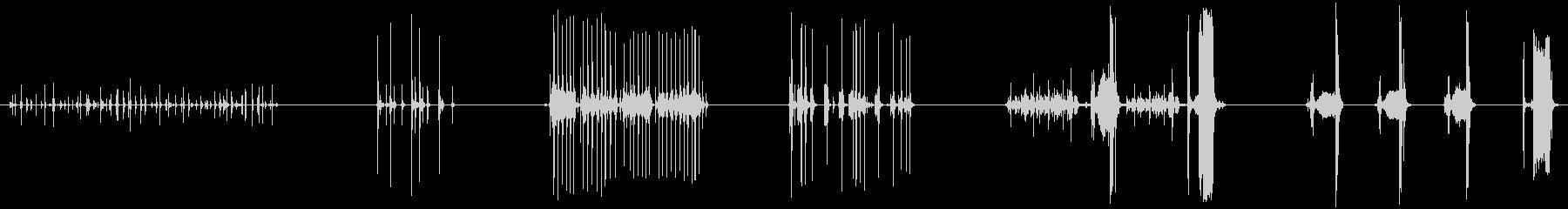 タイプライティング、5バージョン、...の未再生の波形