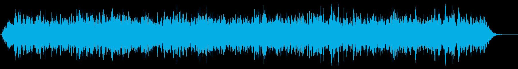 原子力発電所の放射能をイメージしたBGMの再生済みの波形