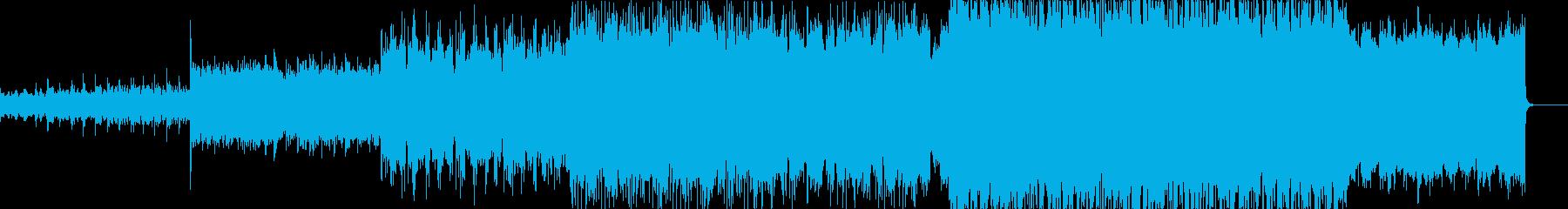 シネマティックなミディアムエレクトロの再生済みの波形