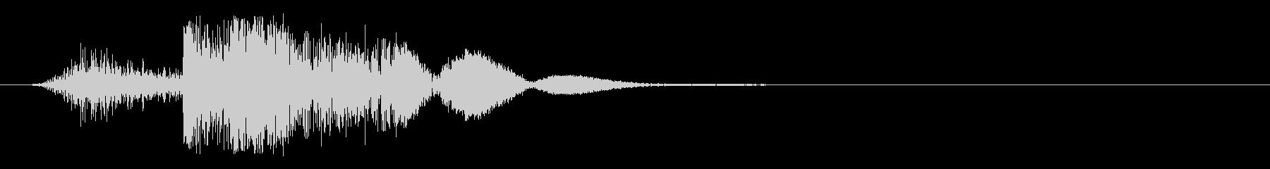 重金属への弾丸の影響Bullet ...の未再生の波形
