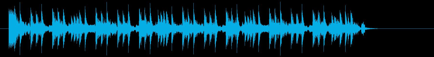 ダンサブルなサンプリング調のジングルの再生済みの波形