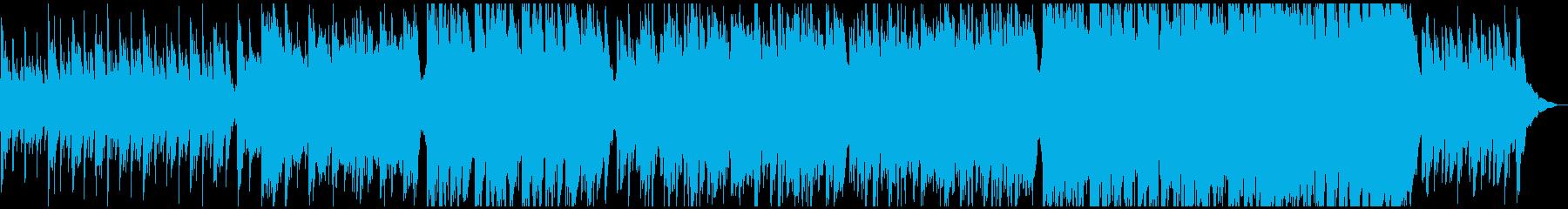 軽快で感動的な、ピアノと弦合奏のバラードの再生済みの波形