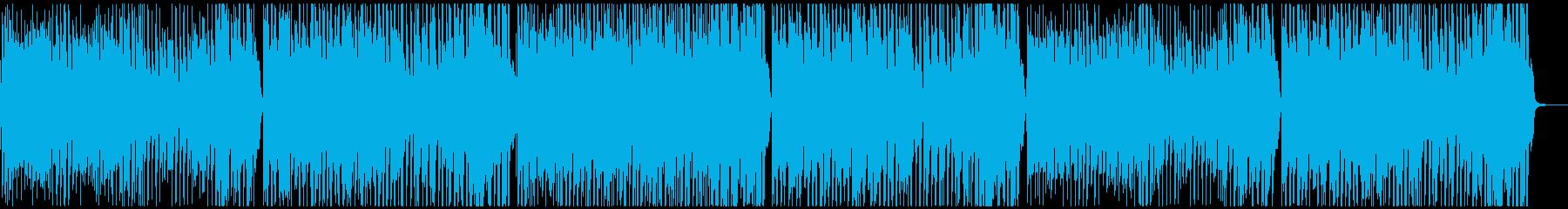 明るく楽しい元気な曲の再生済みの波形