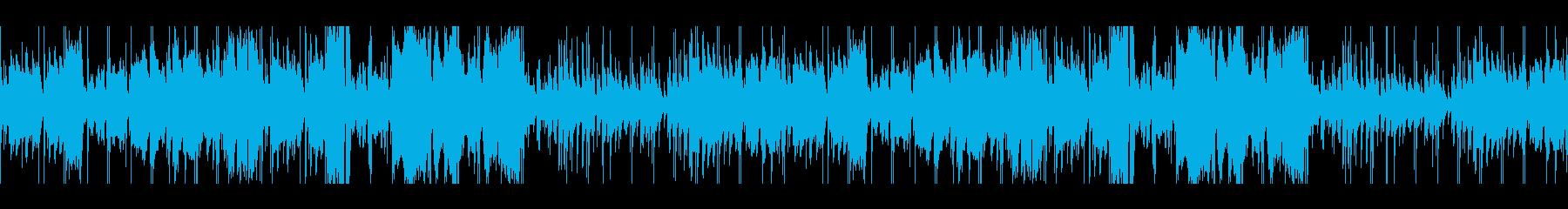 クラリネットの爽やかシャッフルの再生済みの波形