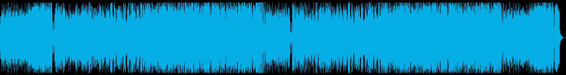 尺八がメロディの和風ロックの再生済みの波形