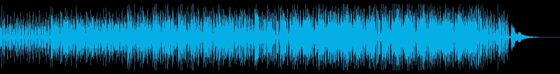 クラシックギターとピアノのボサノバ風Aの再生済みの波形
