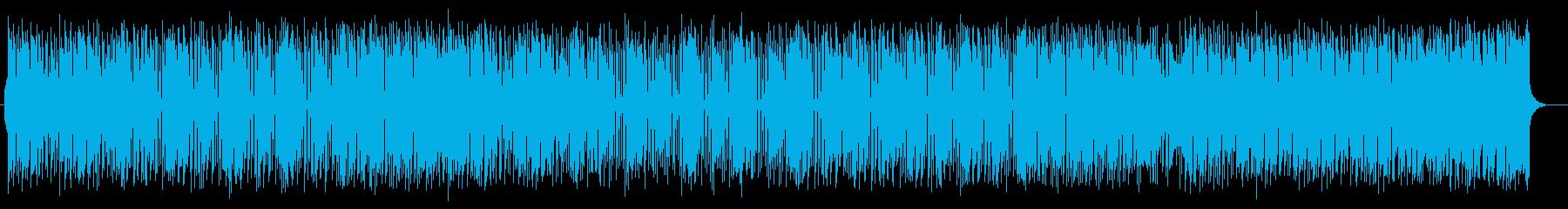 軽快で疾走感のあるリズムが特徴のポップスの再生済みの波形
