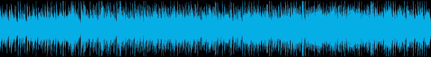 ハッピーなウクレレ曲、ハワイ ※ループ版の再生済みの波形