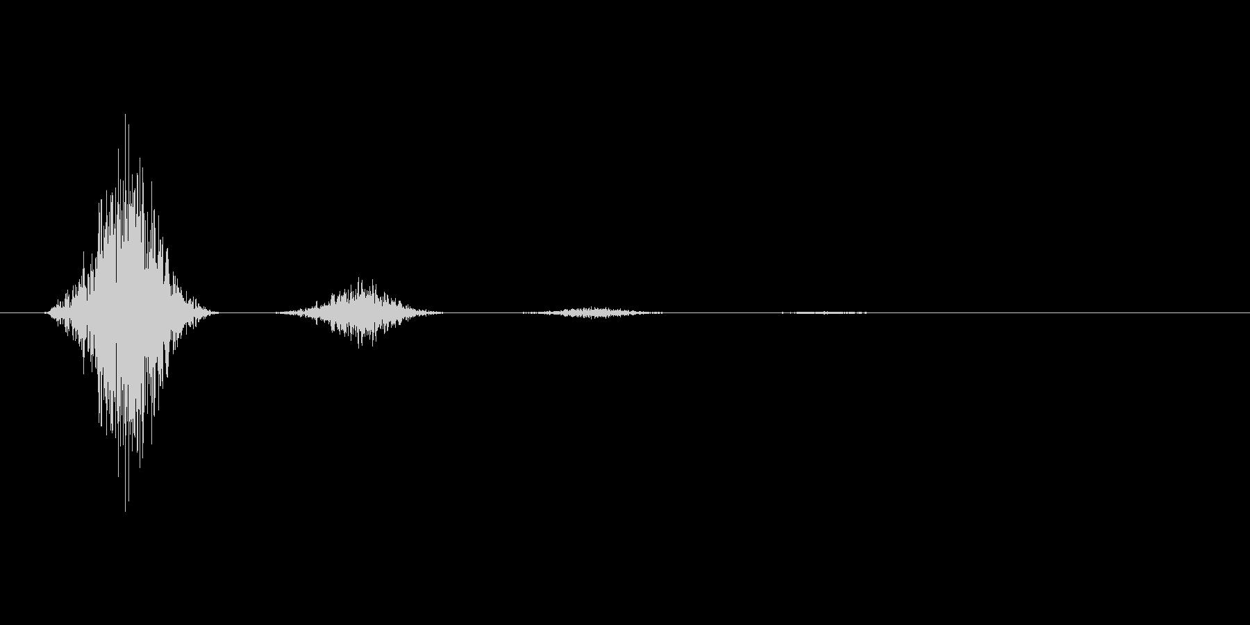 スワイプ.タップ.ページ送り音 02の未再生の波形