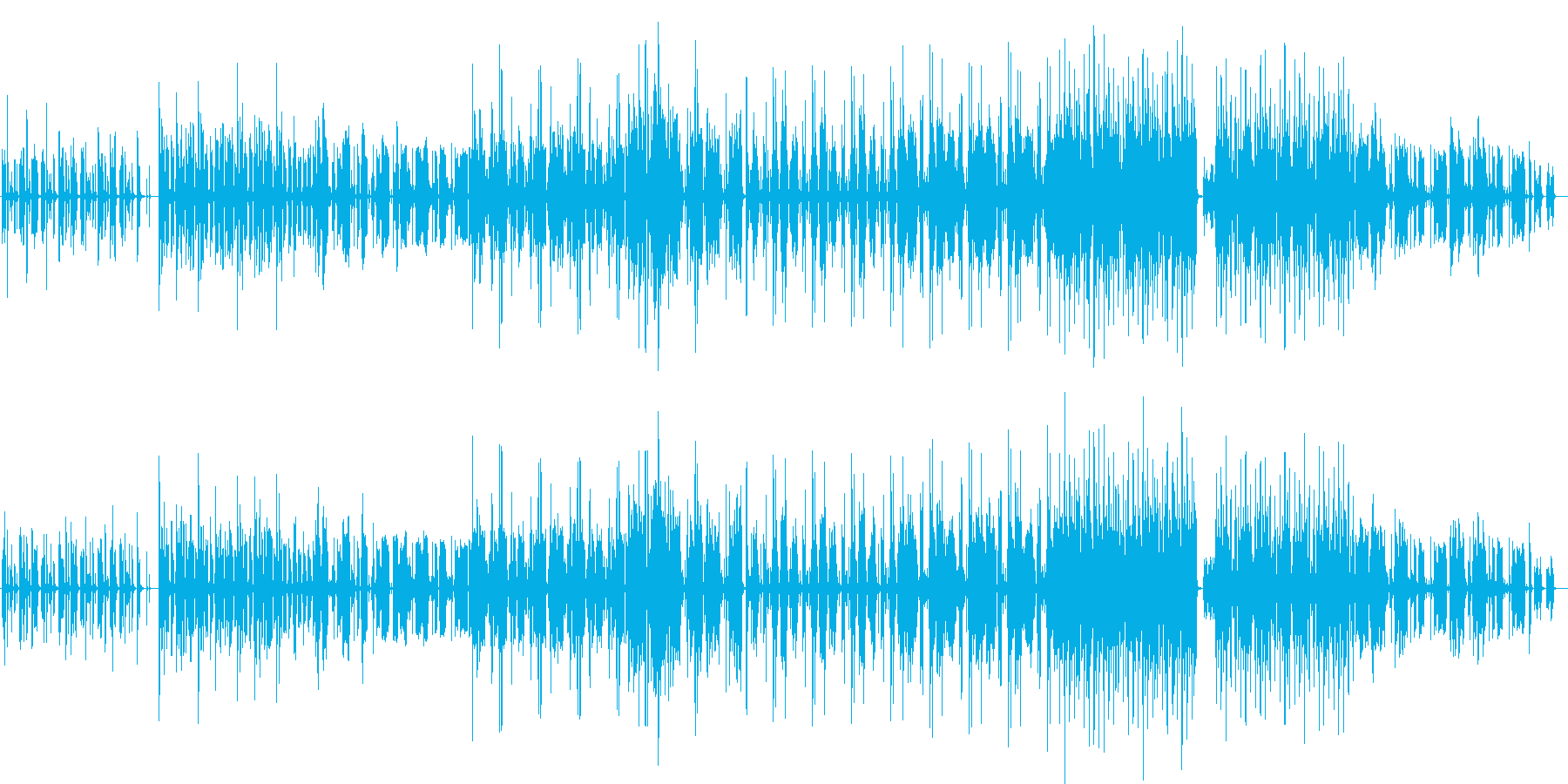 コミカルでどこか抜けてる曲の再生済みの波形