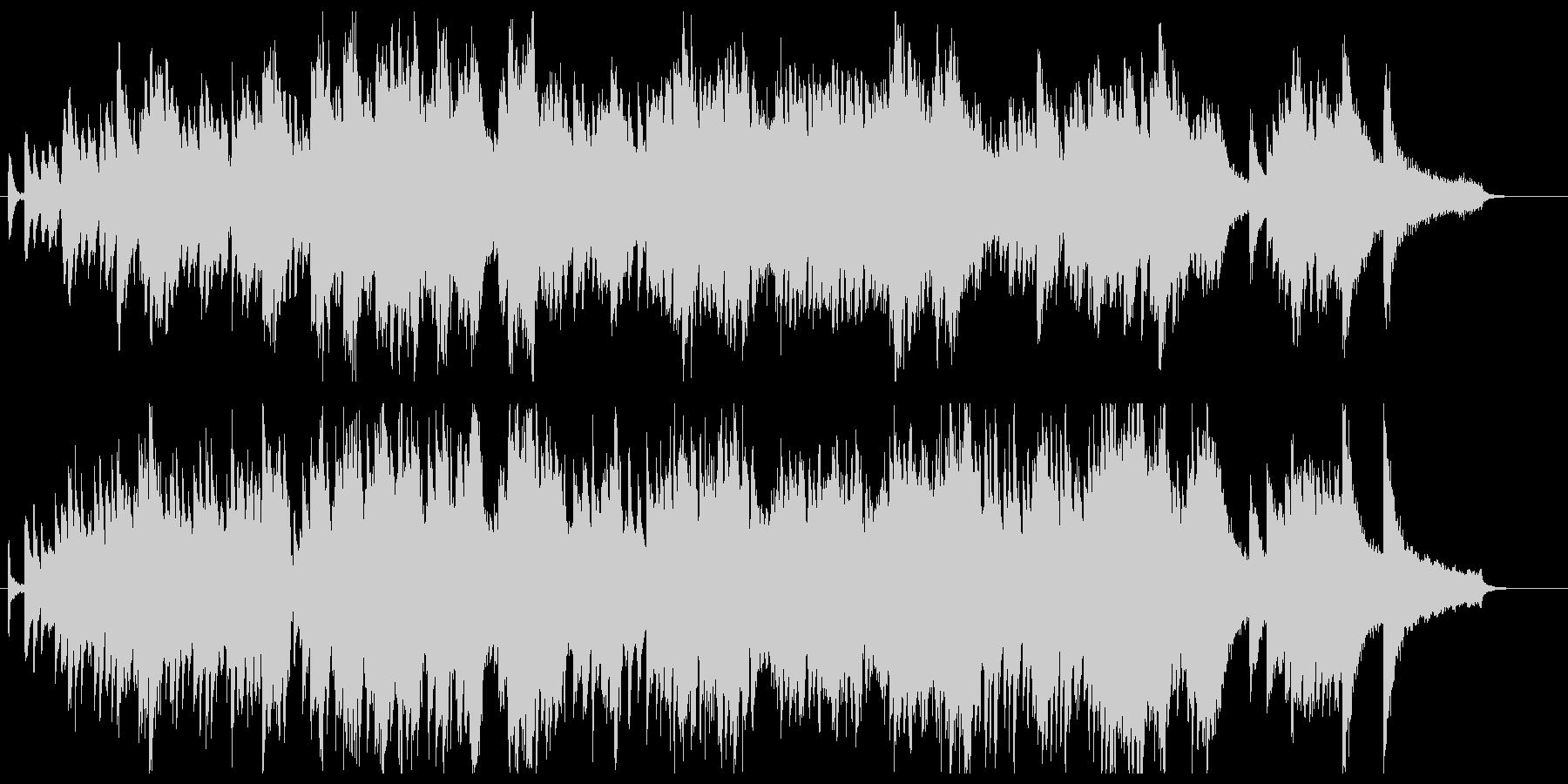 ドビュッシー、アラベスク風ピアノ曲の未再生の波形