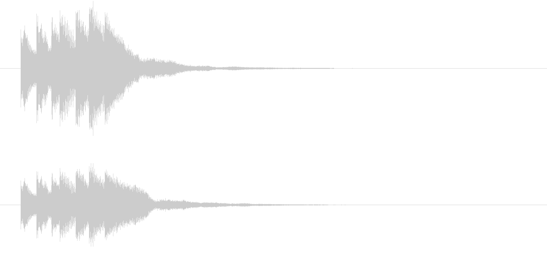 キラリン キラキラ 星 グロッケンの未再生の波形
