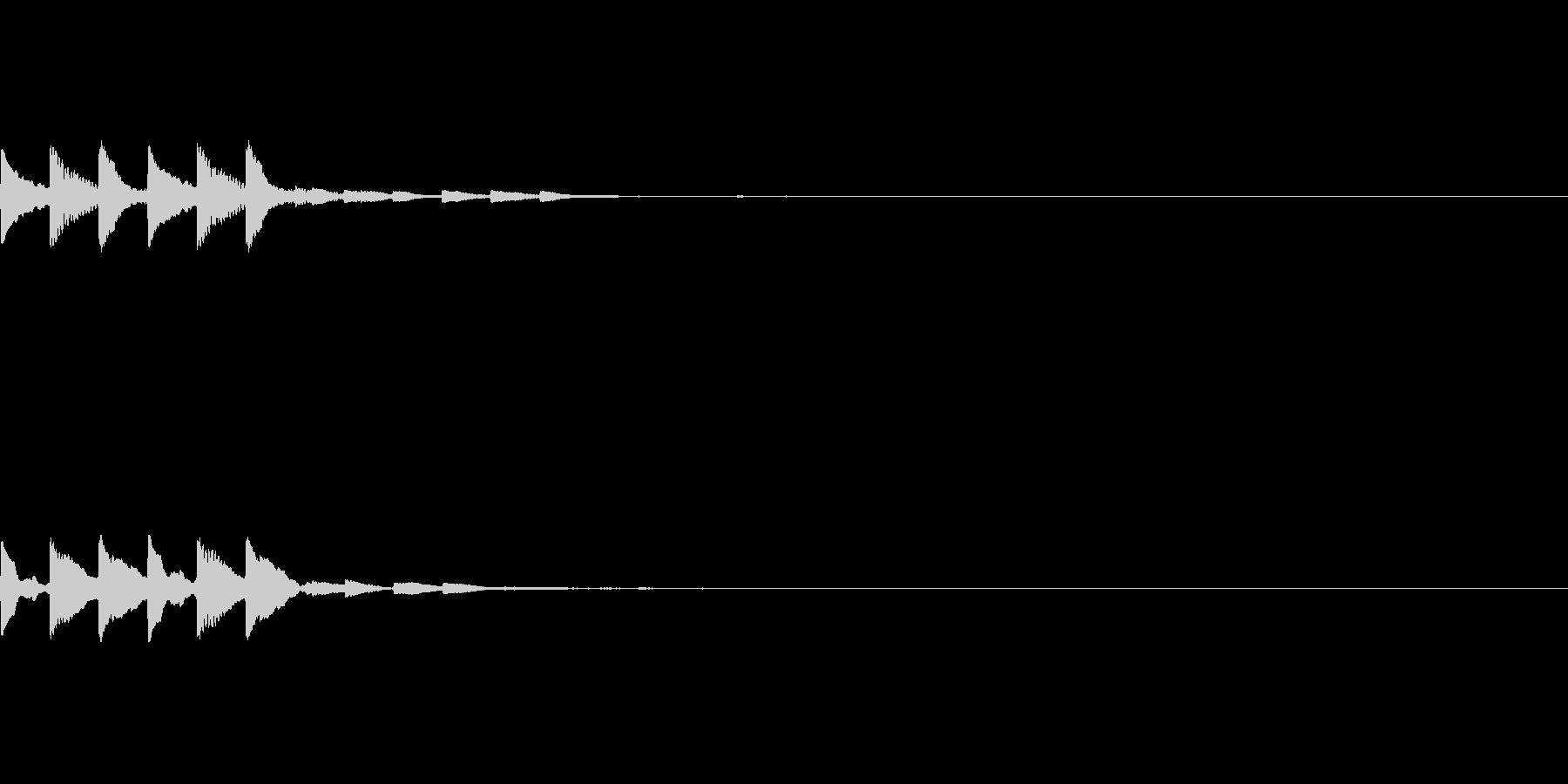 ピロリピロリ【決定音・タッチ音・高め】の未再生の波形
