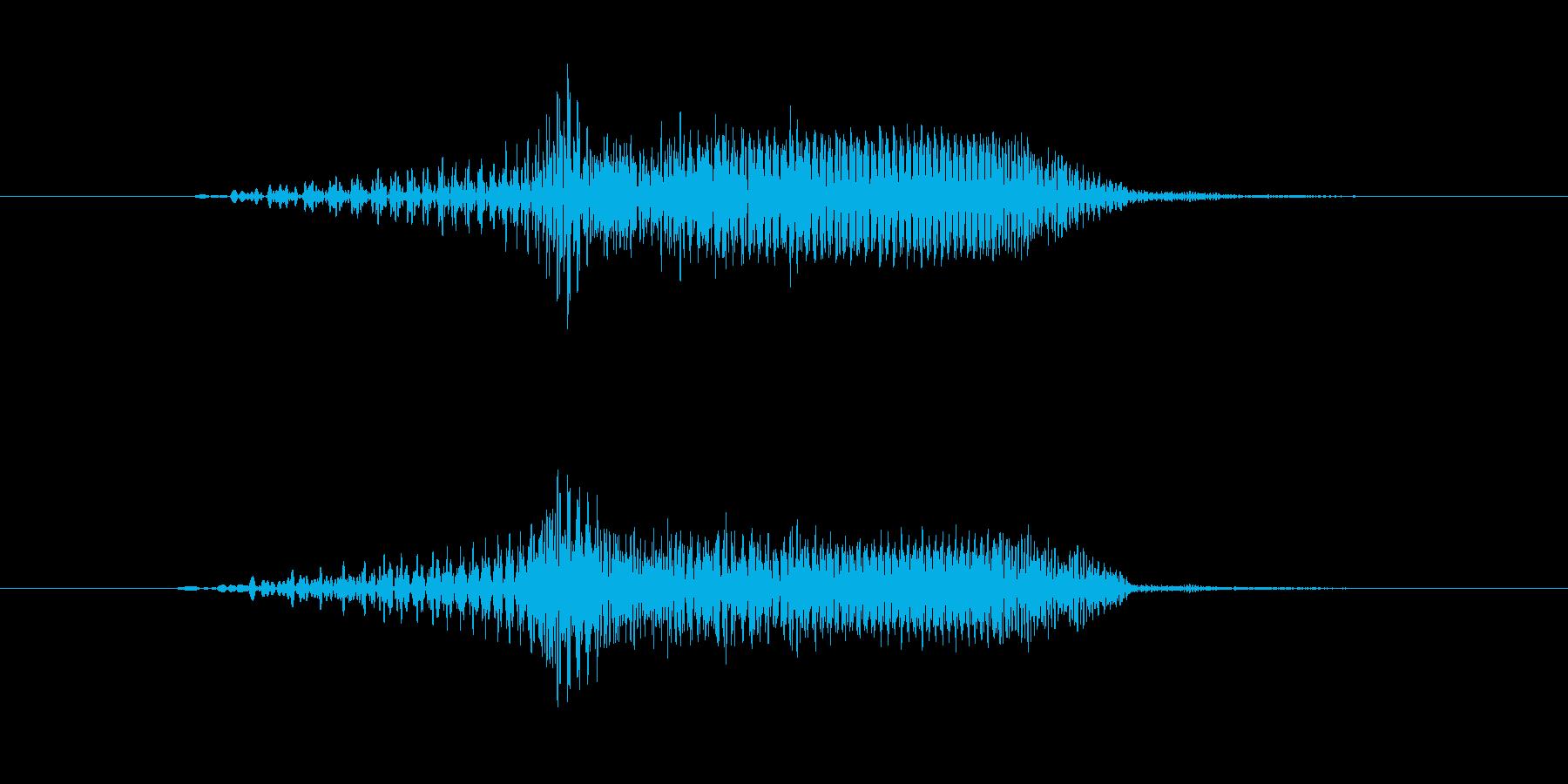 漫画の動きスイープの再生済みの波形