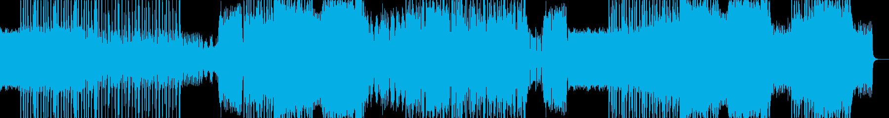 宇宙船コックピットの臨場感ある楽曲の再生済みの波形