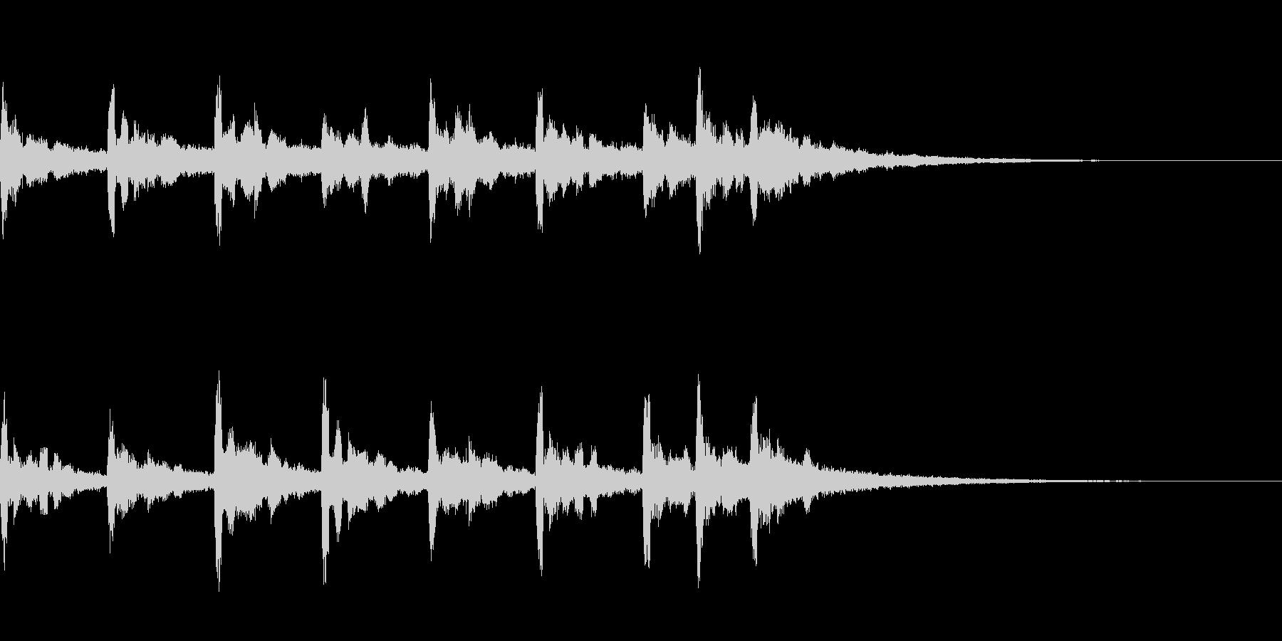 スペイシーなサウンドロゴの未再生の波形