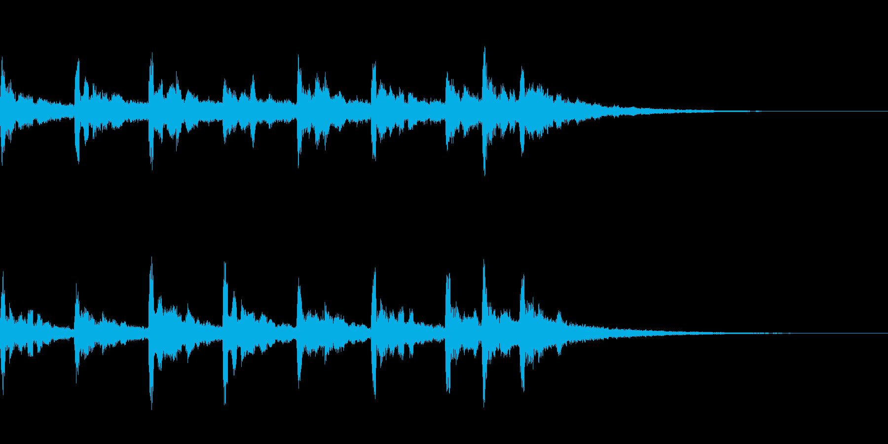 スペイシーなサウンドロゴの再生済みの波形