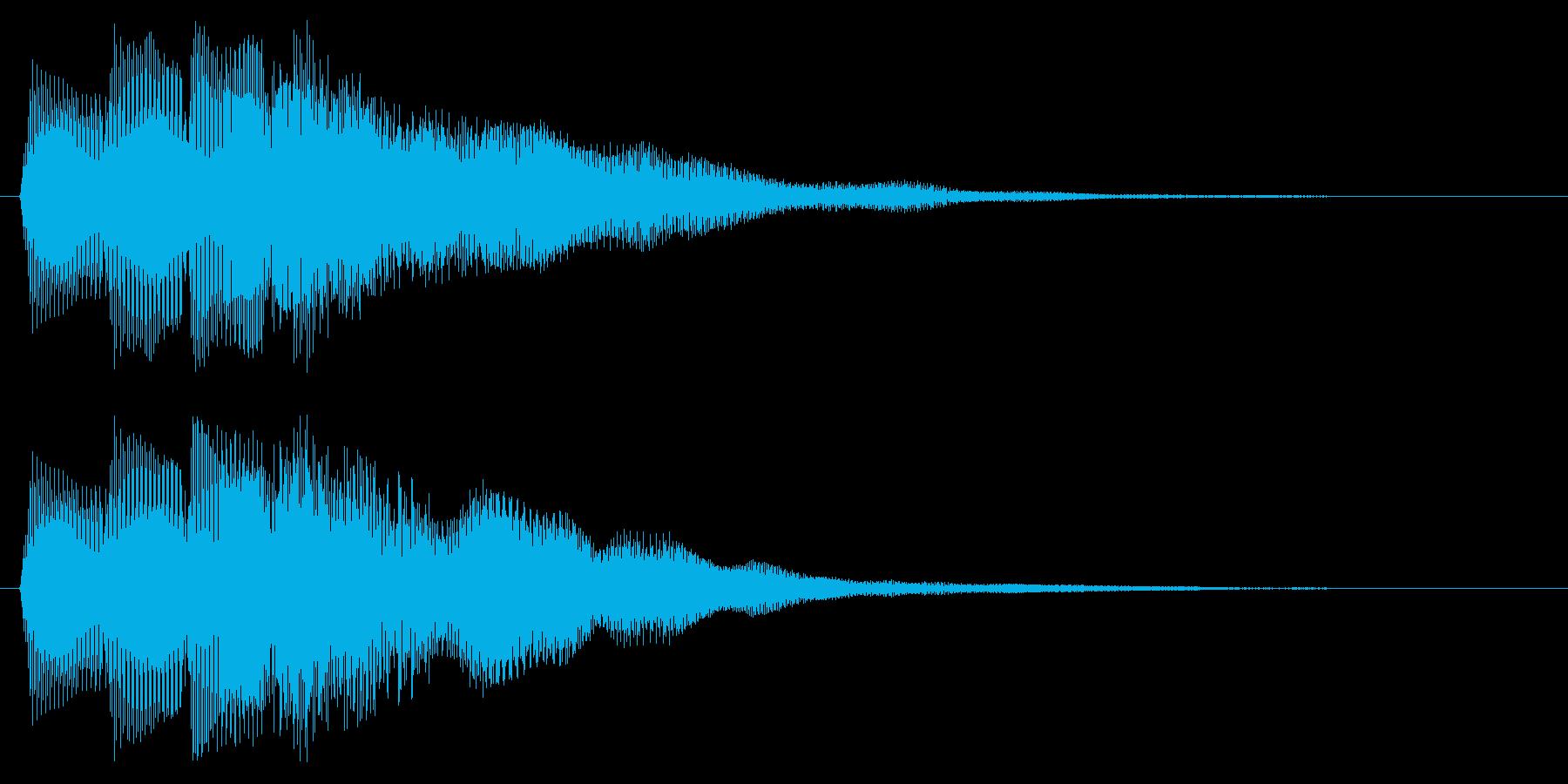 ゲームオーバー ミス 失敗した時の音の再生済みの波形