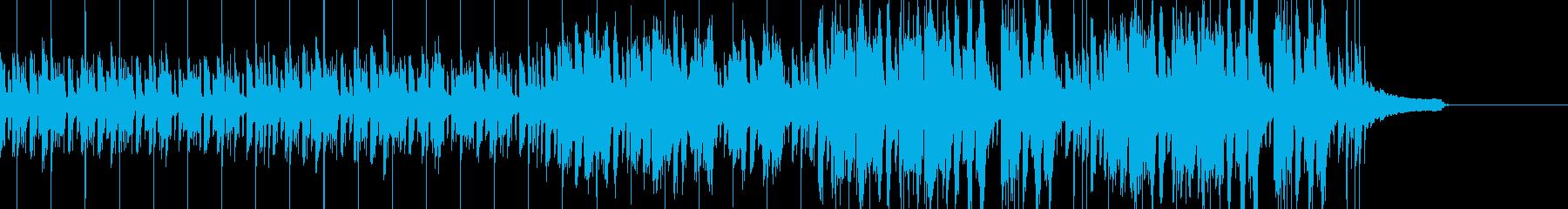 Future bass風の曲の再生済みの波形