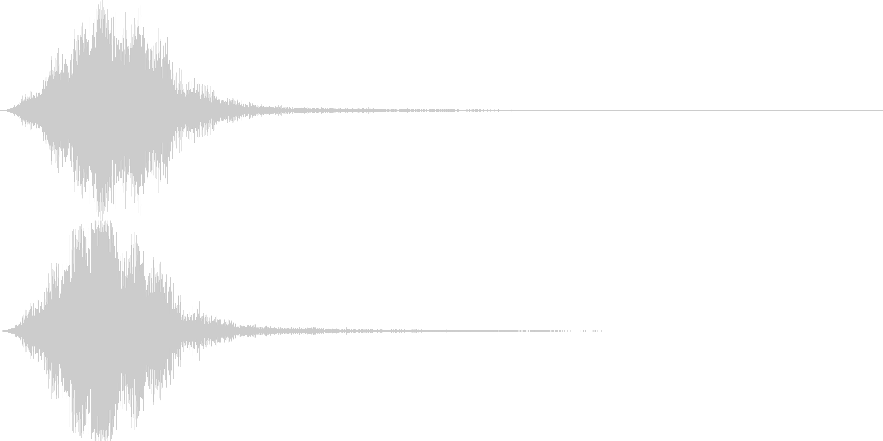 CINEMATIC Sound FXの未再生の波形