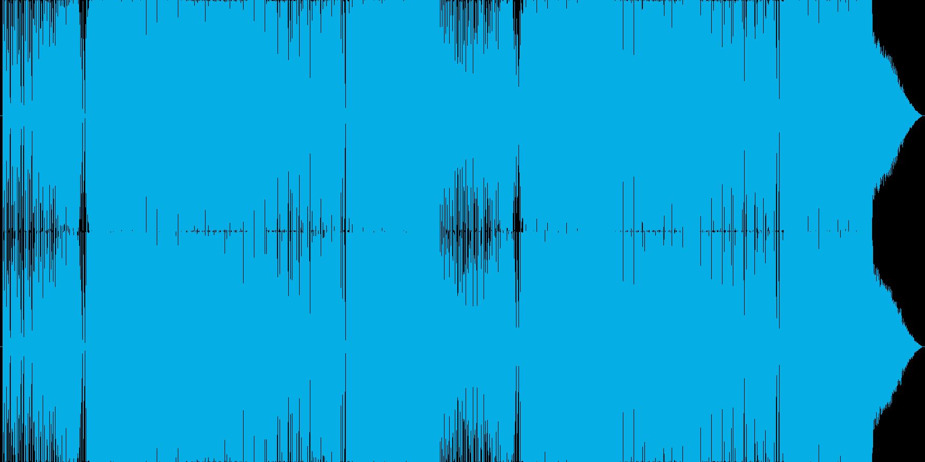 ビートが効いた爽やかなBGMロングの再生済みの波形
