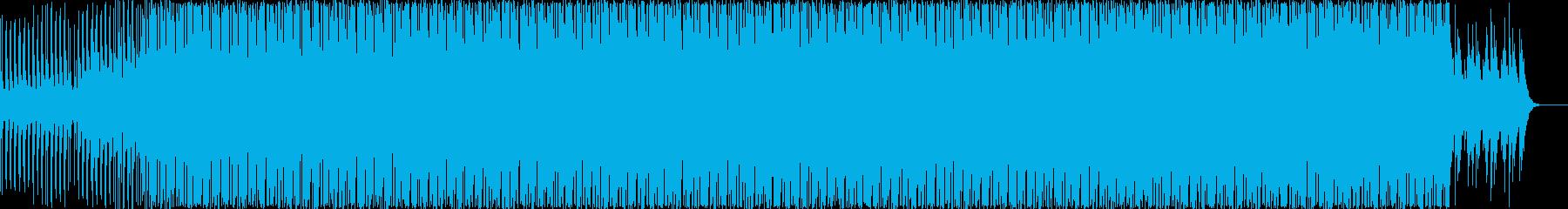 幻想的エレクトロニカハウスミュージックの再生済みの波形