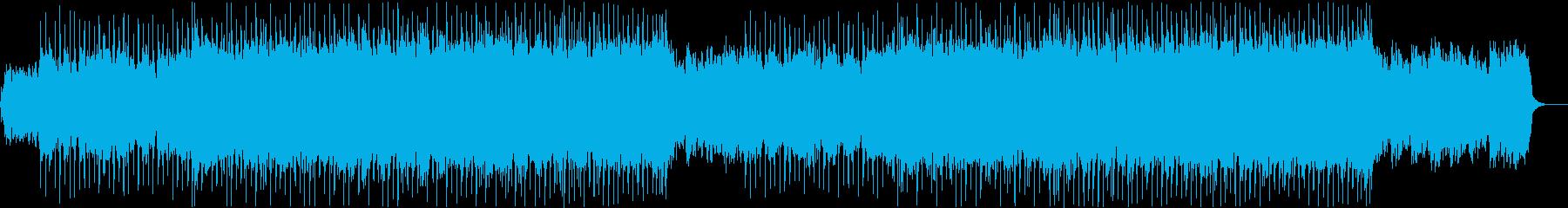 爽やかでポップなエレキギターのBGMの再生済みの波形