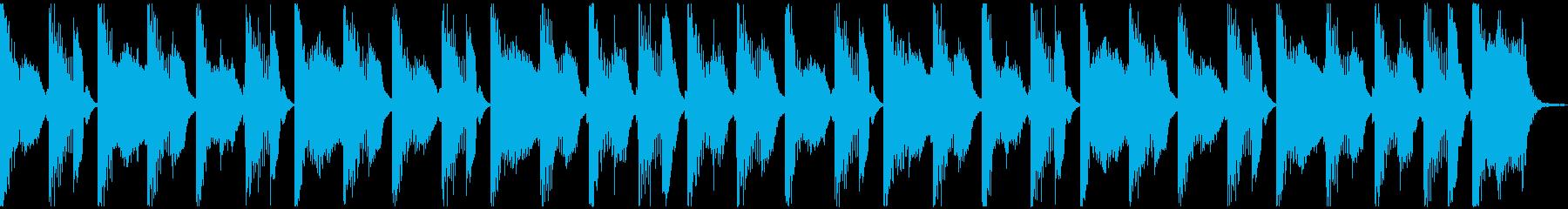 犬・猫・子供のバタバタシンセループの再生済みの波形