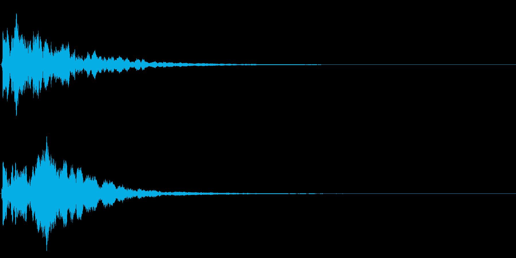 ゲームスタート、決定、ボタン音-099の再生済みの波形