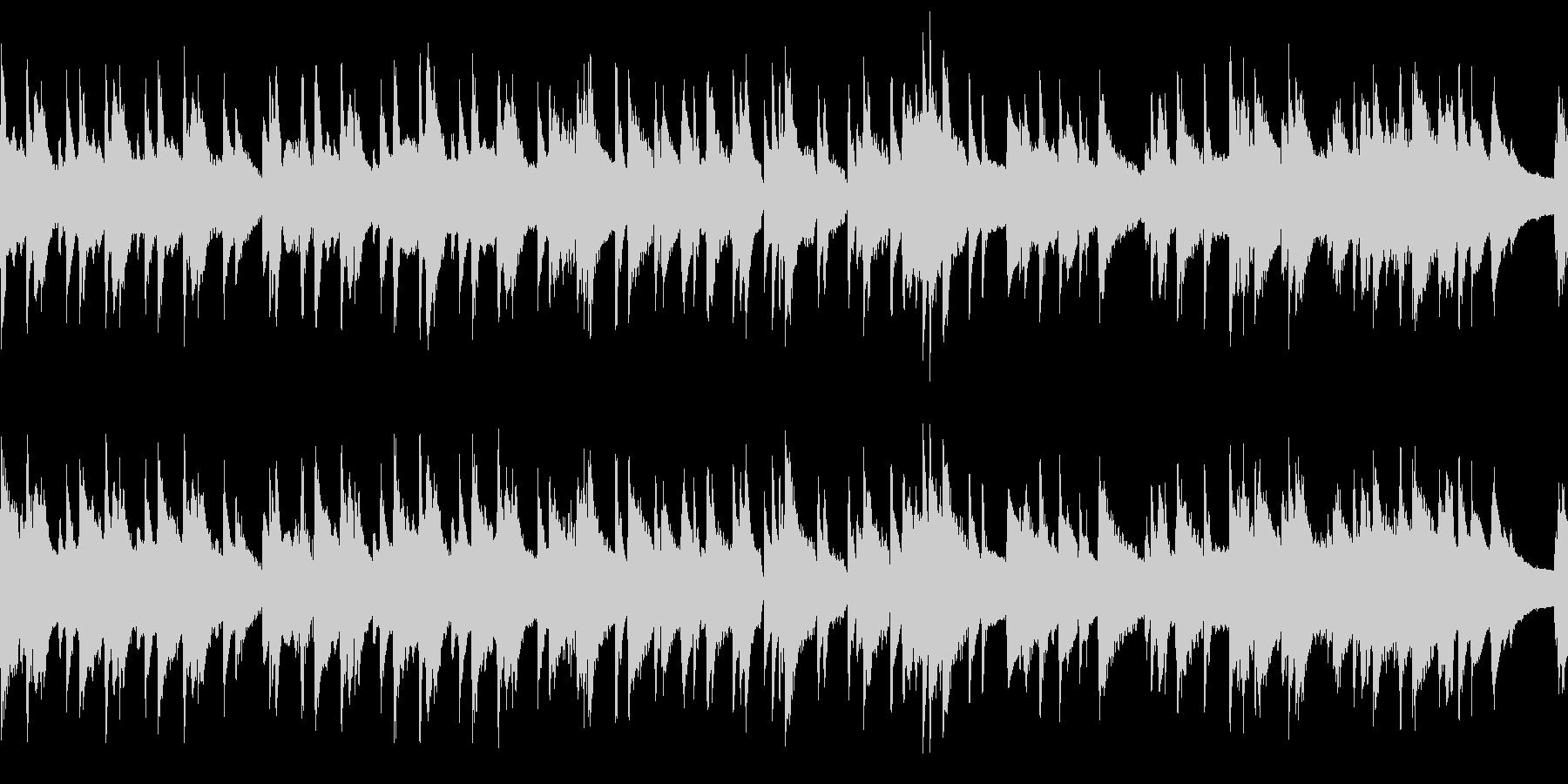 ループ ゆったりお洒落なピアノジャズの未再生の波形