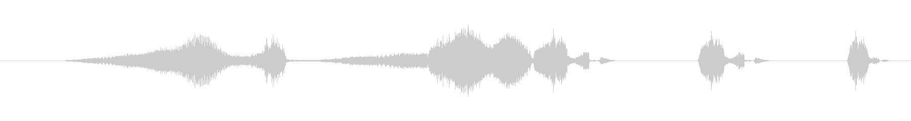 特撮 グリッチを確認01の未再生の波形